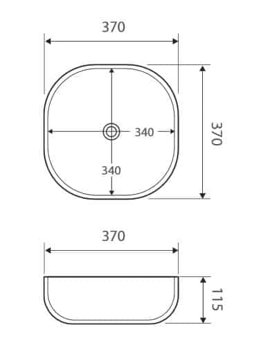 Fienza Koko 370 Basin Specs