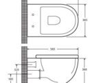 Fienza Koko Wallhung Rimless Pan K2376b Specs
