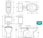 Fienza Stella Care Toilet Specs