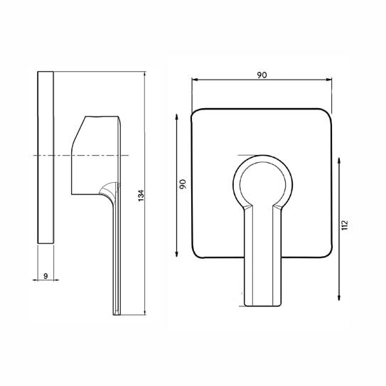 Fima Mast Wallmix Sq F3133s Specs
