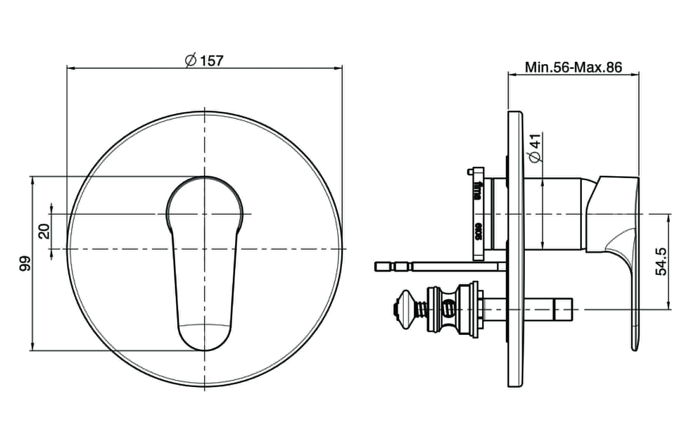 Fima Series22 Wallmixdiv F3839x2 Technical Drawing