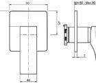Fima Zeta Wall Mixer T F3963s 1 Specs