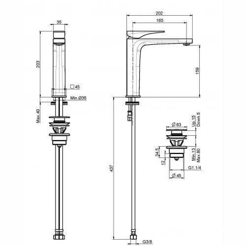 Fima Zeta Basin Mixer F3961n Specs