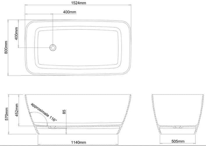 Ga Canal Petite Stone Bath 22839 Specs