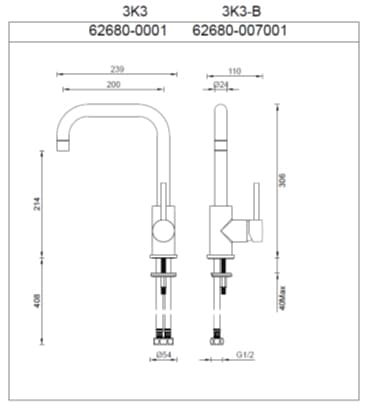 Ga Lucia Sidelever Kitchen Mix 3k3 Specs