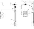 Ga Monza Square Twin Shower Rhb06 Specs