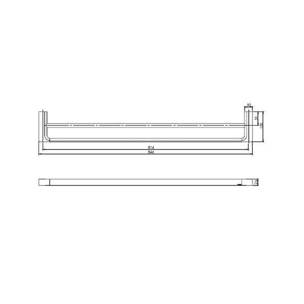 Gloss Towel Rail Double 02