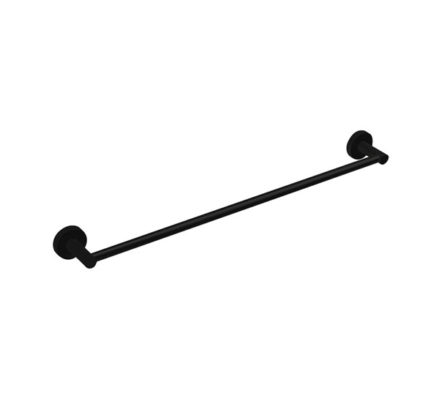Hustle Towel Rail Single Matte Black 01