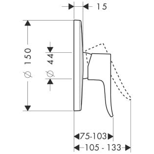 Hansgrohe Metris Wall Mix Dwg