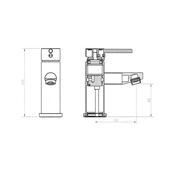Isabella Basin Mixer Short 1