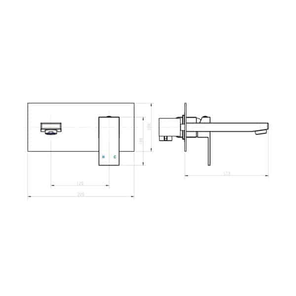 Jet Wall Mixer With Spout 02