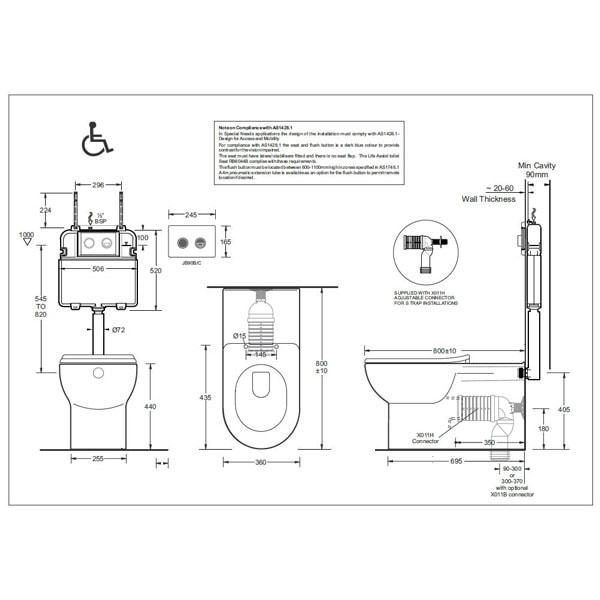 Johnson Suisse Life Assist Pan + Inwall Cistern 02