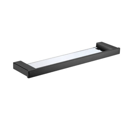 Komo Glass Shelf Matte Black 01