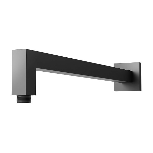 Lexi Shower Arm 400mm Square Matte Black 04
