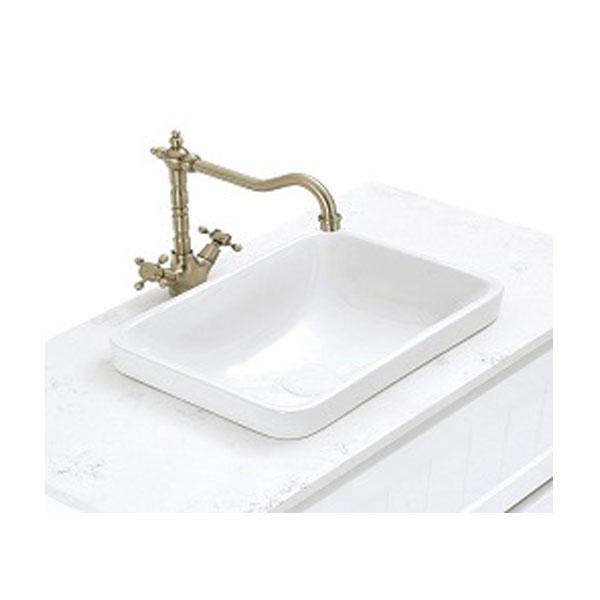 Lillian Shepherds Crook Cross Handle Sink Mixer 05