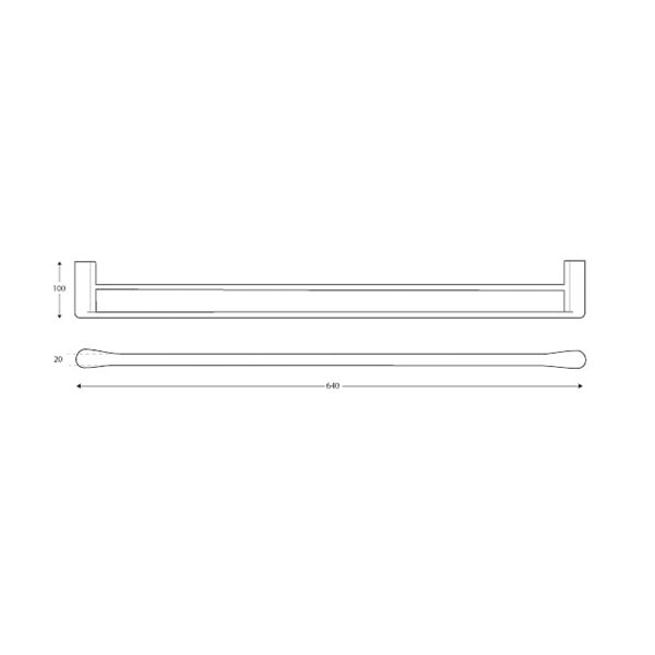 Manhattan Towel Rail Double 600mm 03