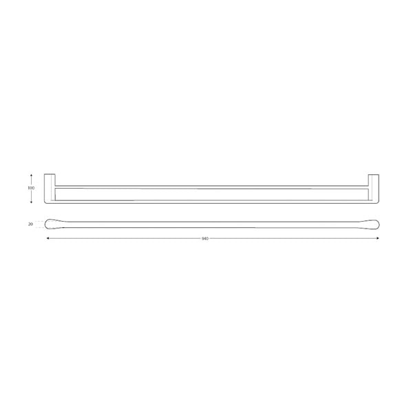 Manhattan Towel Rail Double 900mm 03