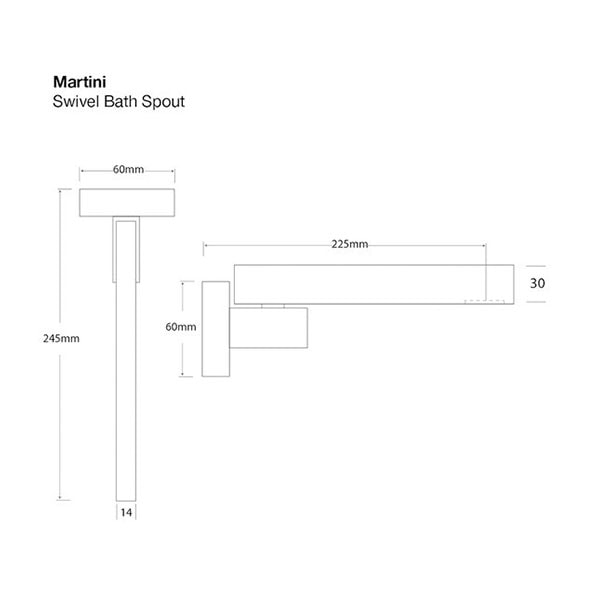 Martini Bath Spout Swivel 3