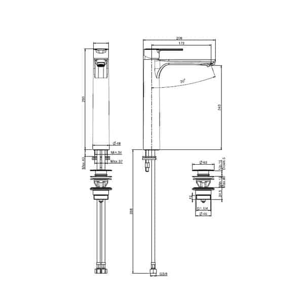 Mast Basin Mixer Tall 02