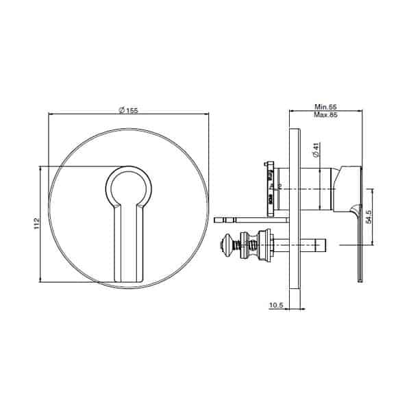 Mast Wall Mixer With Diverter 02