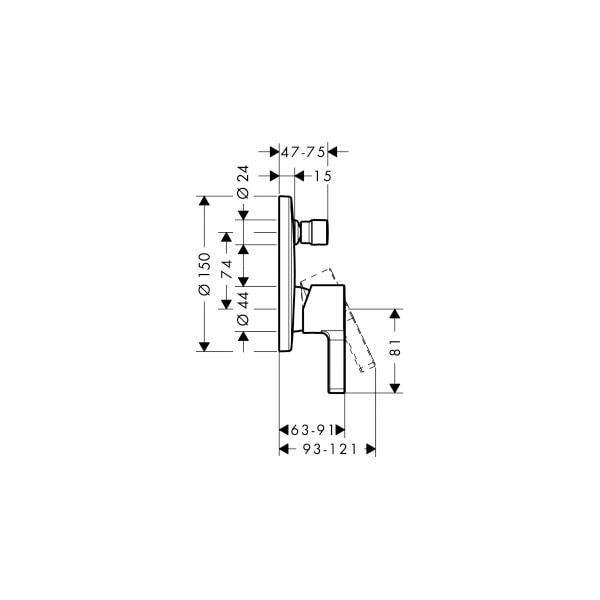Metris S Wall Mixer With Diverter 02