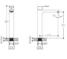 Manhattan High Rise Basin Mixer Specs