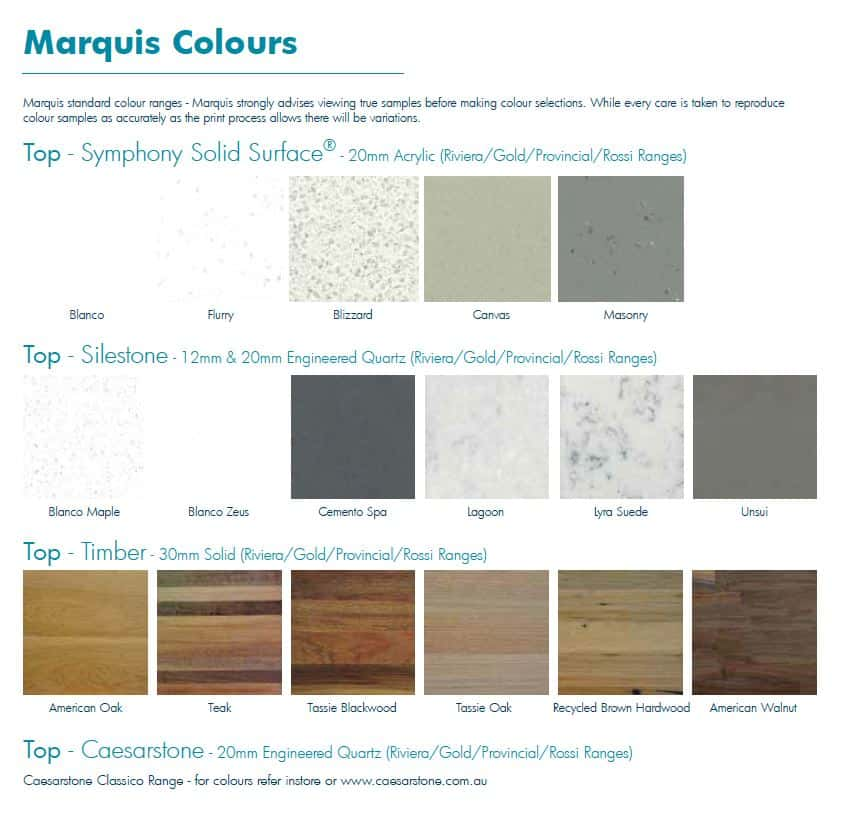 Marquis Top Colours