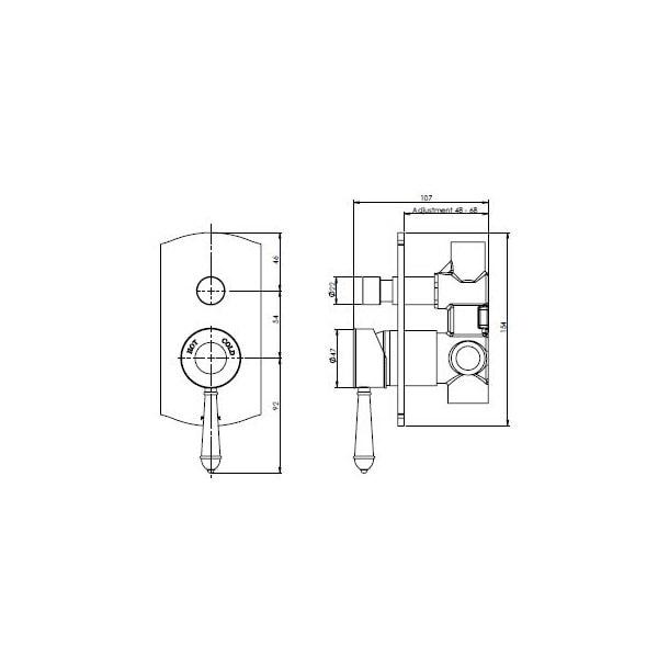 Nostalgia Showerbath Mixer With Diverter 02