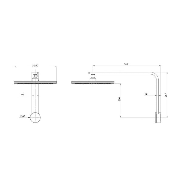 Nx Quil Shower Arm And Rose 02