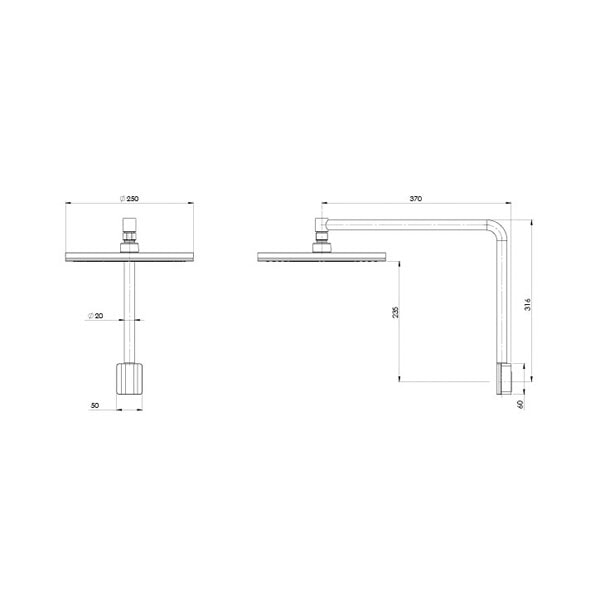 Nx Vive Shower Arm And Rose 02