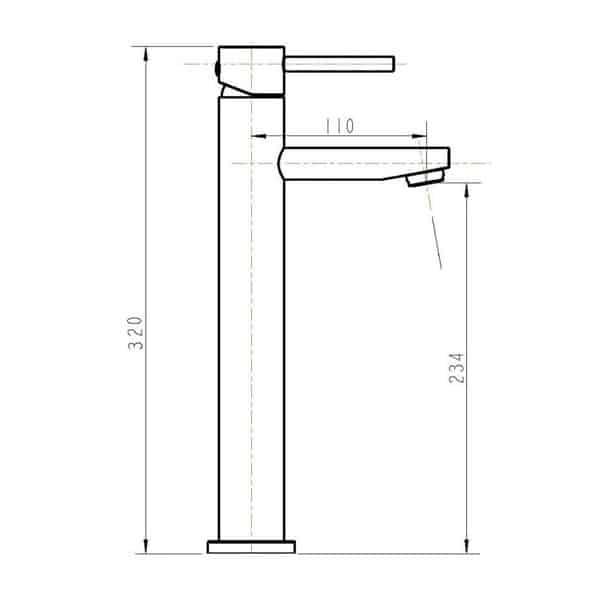 Ovalie Basin Mixer Tall 02