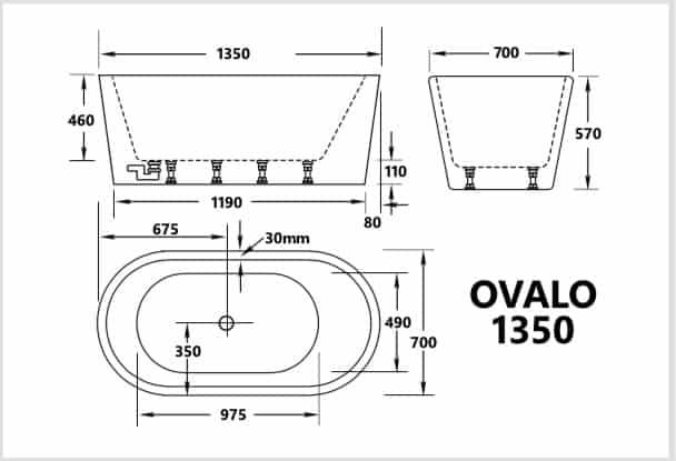 Ovalo 1350