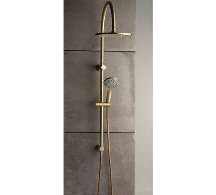 Pegasi 600 Dual Shower Antique Brass Light