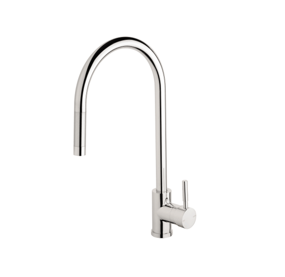 Phoenix V719 Chr Vivid Pull Out Sink Mixer 3