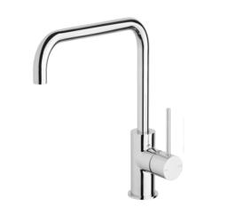 Phoenix Vs731 Chr Vivid Slimline Side Lever Sink Mixer 220mm Squareline 3