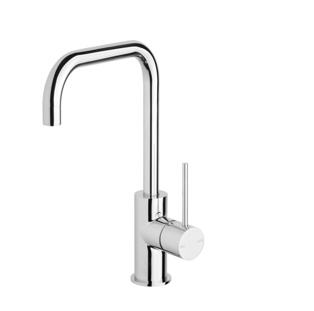 Phoenix Vs732 Chr Vivid Slimline Side Lever Sink Mixer 160mm Squareline 3