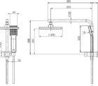Phoenix Le6510 00 Lexi Compact Twin Shower Line Drawing
