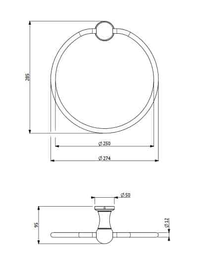 Provincial Towel Ring Specs