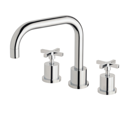 Ra100 Chr Radii Basin Set Swivel 160mm Squareline 3