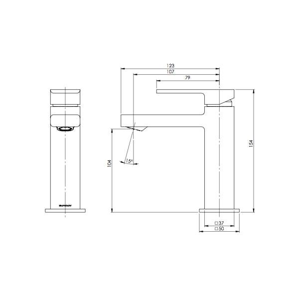 Radii Basin Mixer 02