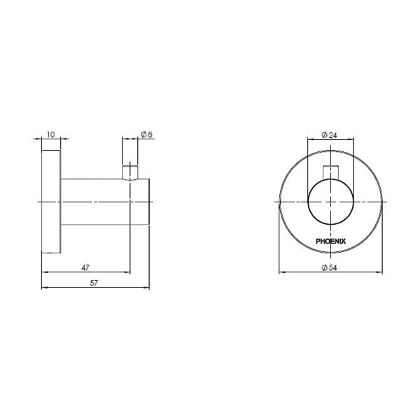 Radii Robe Hook Square Or Round Back Plate 04