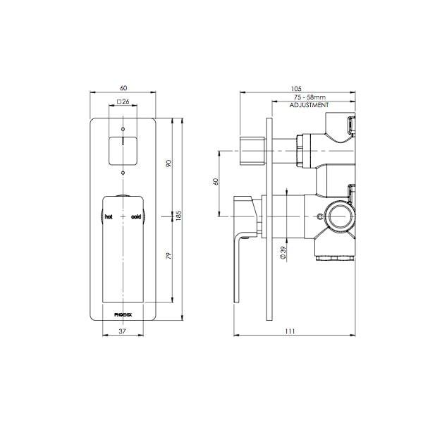 Radii Showerbath Mixer Diverter 02