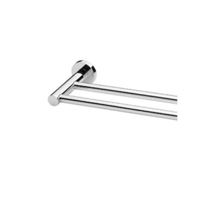 Radii Towel Rail Double 600mm Round Or Square Back Plate 01