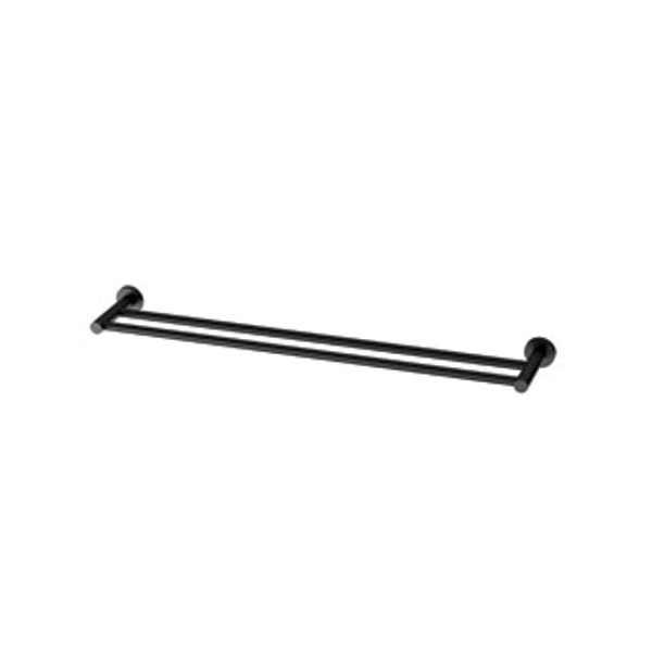 Radii Towel Rail Double 600mm Round Or Square Back Plate 03
