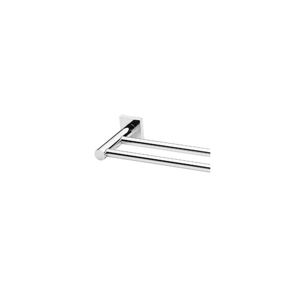 Radii Towel Rail Double 800mm Round Or Square Back Plate 02