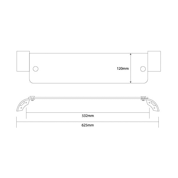 Soho Frosted Glass Shelf 600mm 04