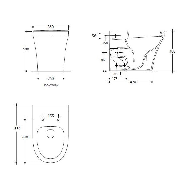 Studio Bagno Q Wall Faced Pan + Cistern 02