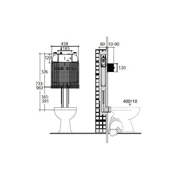 Studio Bagno Q Wall Faced Pan + Cistern 04