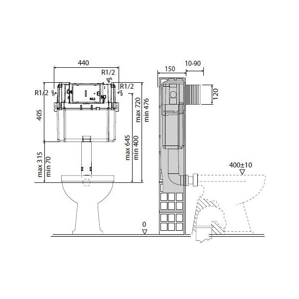 Studio Bagno Q Wall Faced Pan + Cistern 06