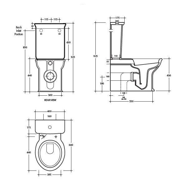 Studio Bagno Impero Flush To Wall Toilet Suite 04